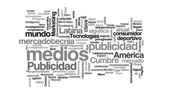 Nube de palabras de marketing espanol